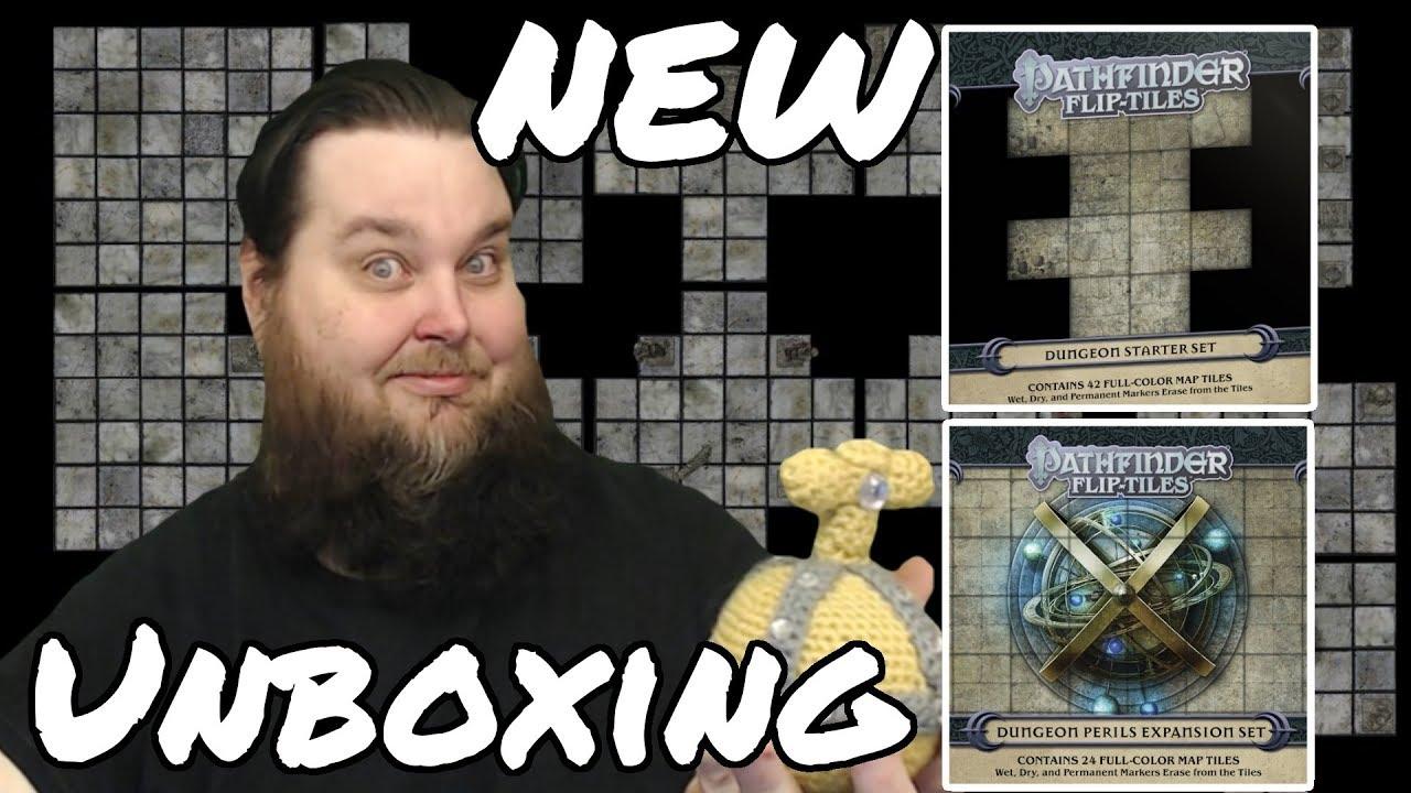 Pathfinder Roleplaying Game — Dungeon Starter Set & Dungeon Perils Expansion Flip-Tiles