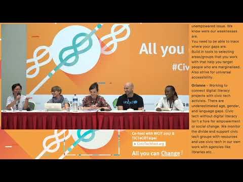 TICTeC@Taipei : How Can Civic Tech Reach More People? How Can Civic Tech Be More Inclusive?