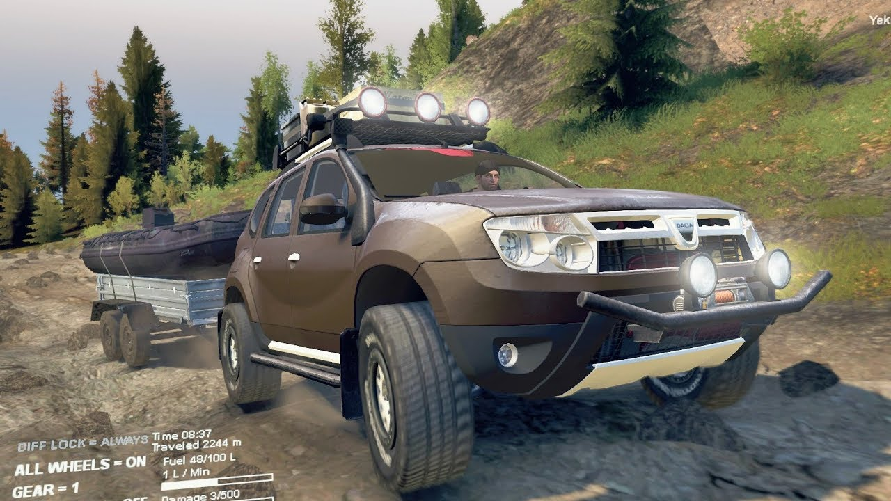 spintires renault duster 4x4 offroad transportando una. Black Bedroom Furniture Sets. Home Design Ideas