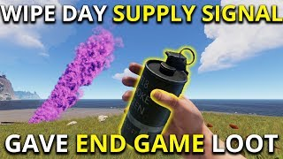 WIPE DAY SUPPLY SIGNAL GAVE ME END GAME LOOT! -  Rust Solo Survival Gameplay 1/7