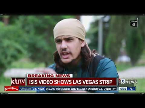 ISIS video shows Las Vegas Strip