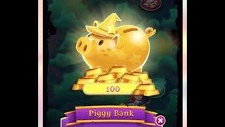 Bubble Witch 3 Saga, Piggy Bank (earn gold bars) screenshot 4