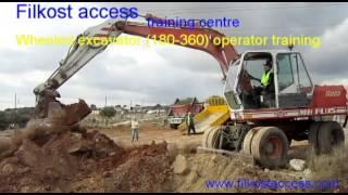 Wheeled excavator operator training