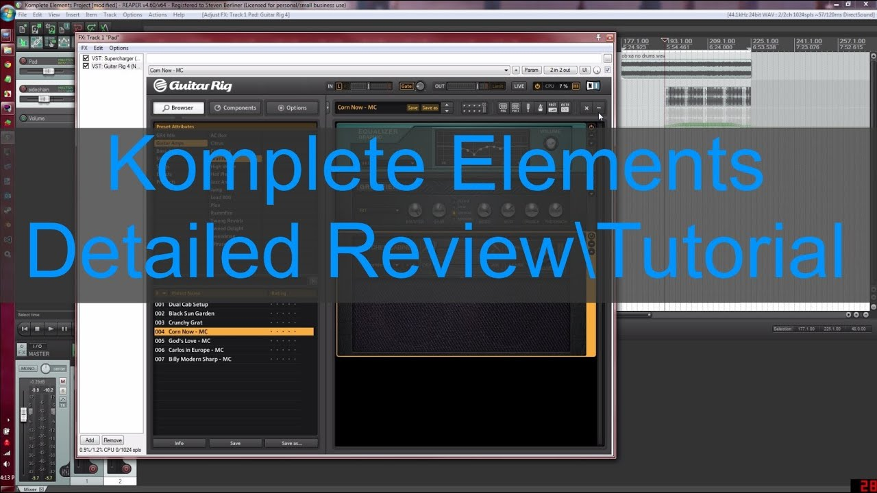 komplete elements detailed review tutorial part 3 effects and drums youtube. Black Bedroom Furniture Sets. Home Design Ideas