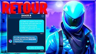 "THE SKIN ""HONOR"" on FORTNITE!! (Official return date)"