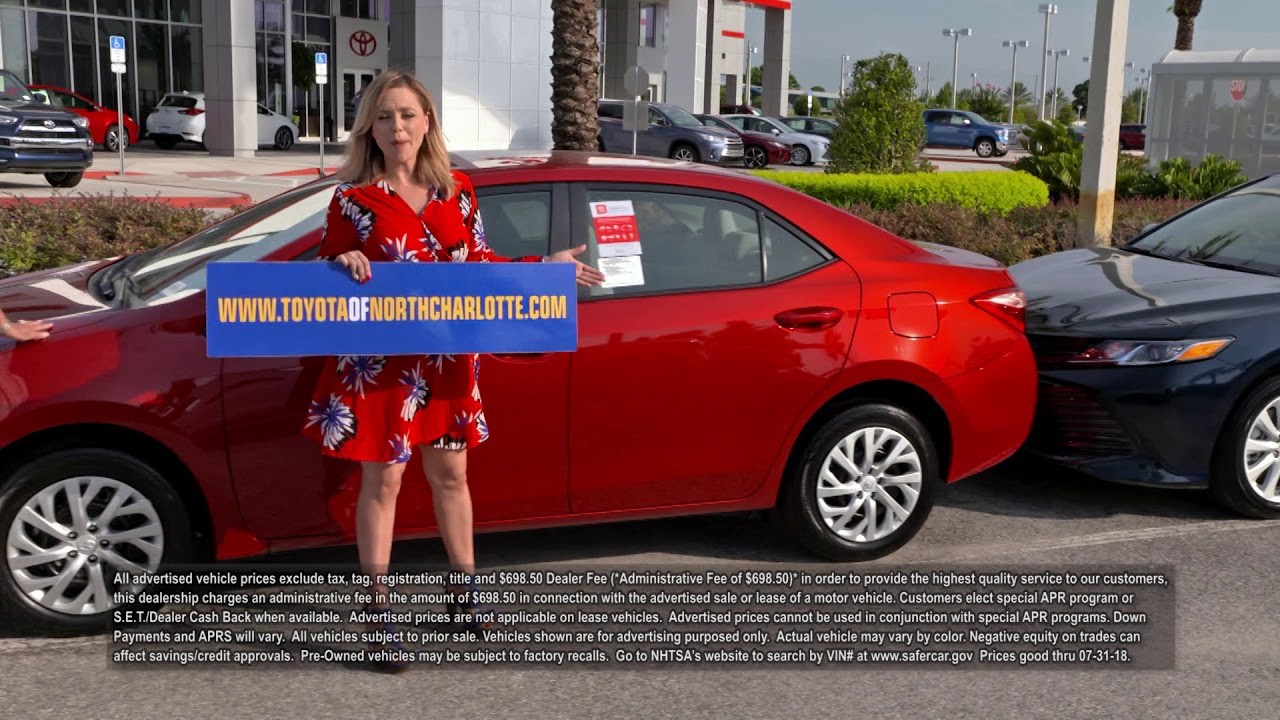 Toyota Of Charlotte >> The 2018 Toyota Corolla Can Be Yours At The Big One Sales Event