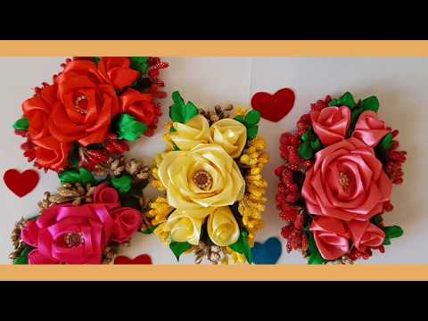 Hair accessories/ how to make beautiful hair flower for bridal