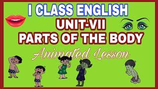 partes del cuerpo de 1ª clase de la lección de inglés animados ap plan de estudios