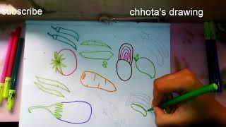 drawing vegetable easy