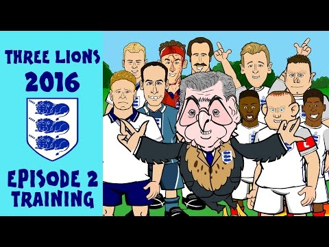 442oons England Euro 2016 Squad Train with Legends; Gazza, Shearer, and Beckham