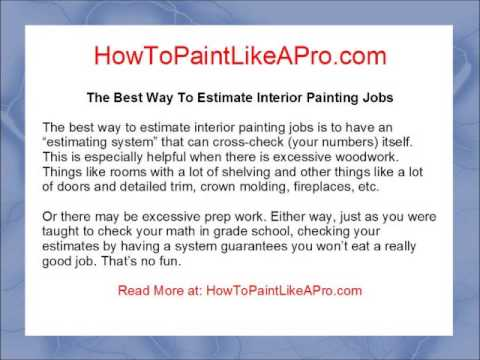 The Best Way To Estimate Interior Painting Jobs   YouTube