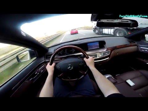 Mercedes-Benz S350 W221 Onboard POV Autobahn acceleration 200km/h