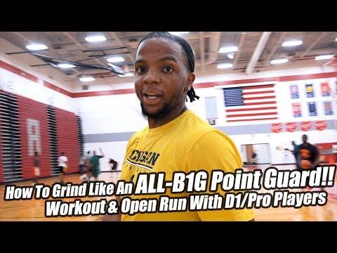 michigan-point-guard-xavier-simpson-workout-&-open-gym-highlights!-loaded-pro/d1-run!