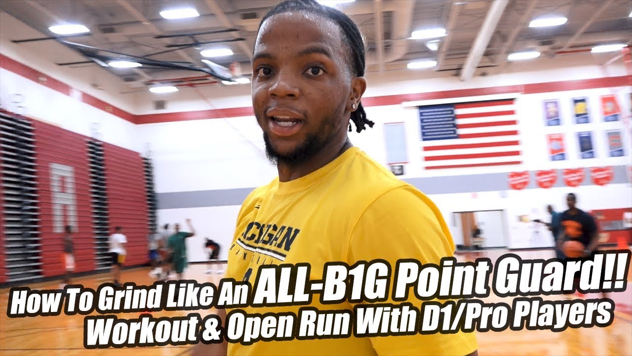 Michigan Point Guard Xavier Simpson Workout & Open Gym Highlights! Loaded  Pro/D1 Run!