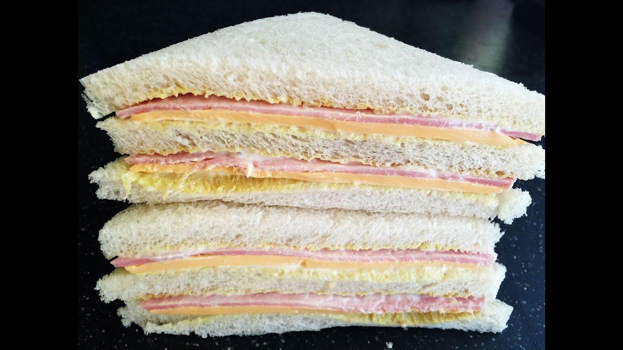 Sandwich Recipes Ham Cheese Sandwich Recipe Youtube