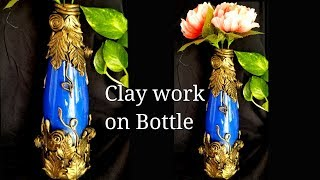Clay mural work on Bottle | shilpkar clay work