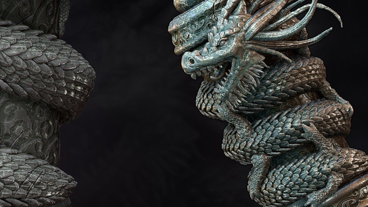 ZBrush Tutorial Now Available Sculpting A Dragon Scroll