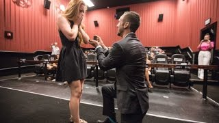 PROPOSING AT YOUR OWN MOVIE PREMIERE