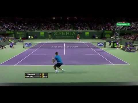 Federer, Djokovic, Nadal, Tsonga, Roddick, Hewitt, Court Level Tennis Matches Highlights