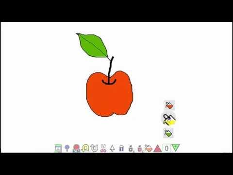 塗り絵 ボタンコピー 白板ソフト Youtube