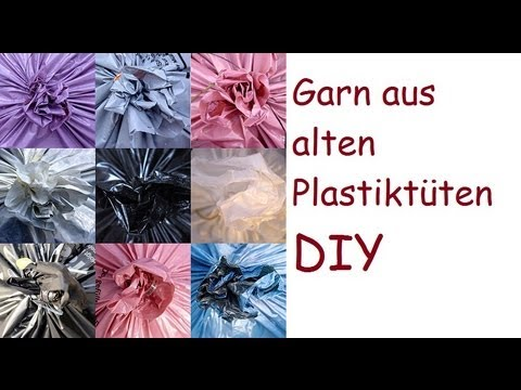 garn aus alten plastikt ten machen eine diy anleitung. Black Bedroom Furniture Sets. Home Design Ideas