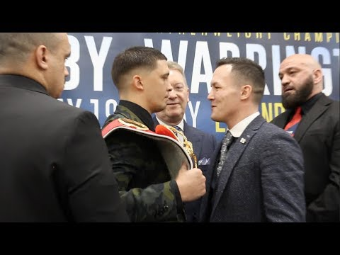 HOSTILE! - WORDS EXCHANGED! -LEE SELBY v JOSH WARRINGTON HEAD-TO-HEAD @ PRESS CONFERENCE (ELLAND RD)