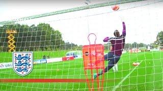 England Warm Up For Estonia Fixture   Inside Training