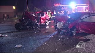 2 killed after wrong-way driver crashes twice on 101 in San Francisco