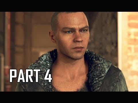 DETROIT BECOME HUMAN Gameplay Walkthrough Part 4 - JERICHO (PS4 Pro 4K Let's Play)
