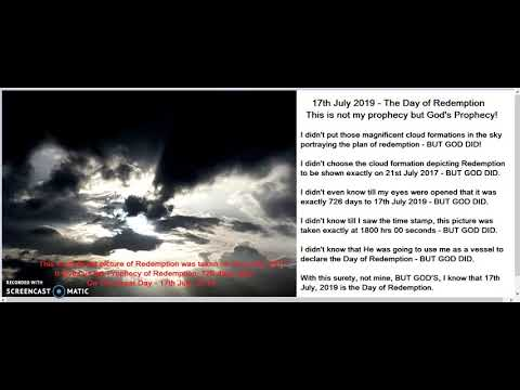 Rapture on 717 - is God's Prophecy, not mine!