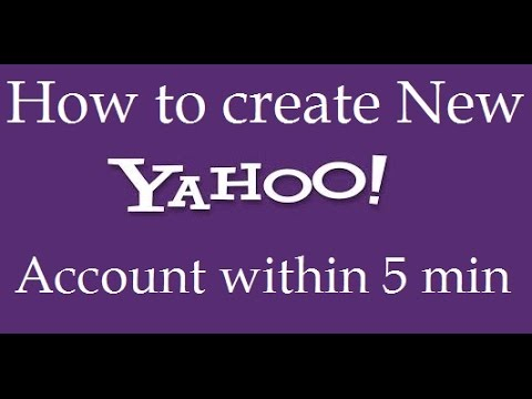 How to create a new email account for yahoo