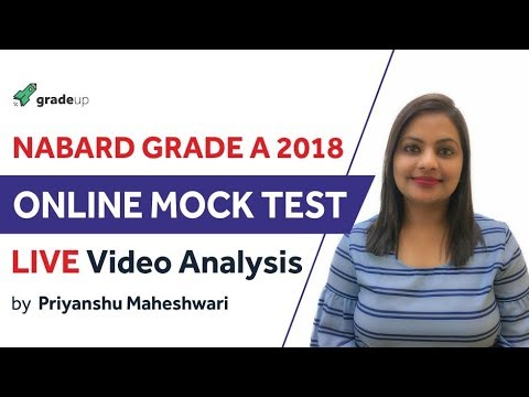 """Live video analysis of Free """"online mock test"""" for   NABARD Grade A 2018 By Gradeup"""