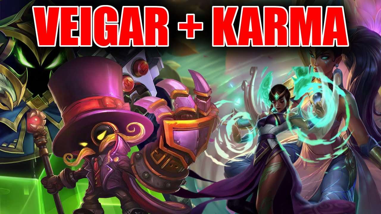 VEIGAR + KARMA BOT (WITH MY GIRLFRIEND) - KILL LANE - LEAGUE OF LEGENDS