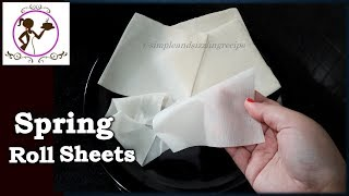 How to make Spring Roll Wrappers/Sheets at Home | Bengali Recipe Video