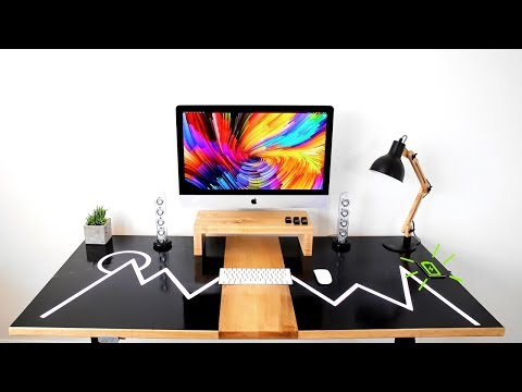 The ULTIMATE diy Dream Desk W/ Epoxy Resin LED's