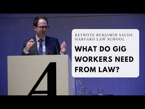 What do gig workers need from law?