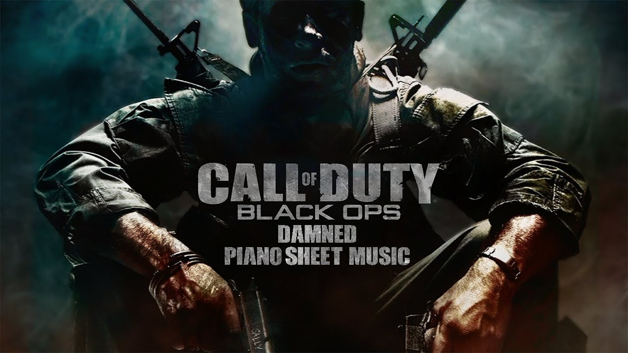 Damned From Call Of Duty Black Ops Piano Sheet Music Tutorial