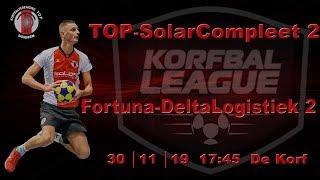 TOP/SolarCompleet 2 tegen Fortuna/Delta Logistiek 2, zaterdag 30 november 2019
