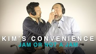 Paul Sun-Hyung Lee and Simu Liu from Kim's Convenience play Jam or Not a Jam