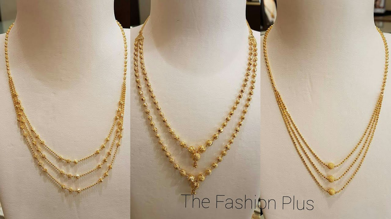 Gold Chain Bead Mala Designs Gold Bead Mala Necklace Designs 2018 Youtube