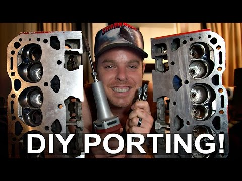 DIY Head Porting Small Block Chevy Vortec 062 Part 1 of 3
