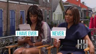 """HipHollywood's Jasmine Simpkins sat down with Regina Hall and Tiffany Haddish about their film 'Girls Trip' and also played a round of """"Never Have I Ever"""""""