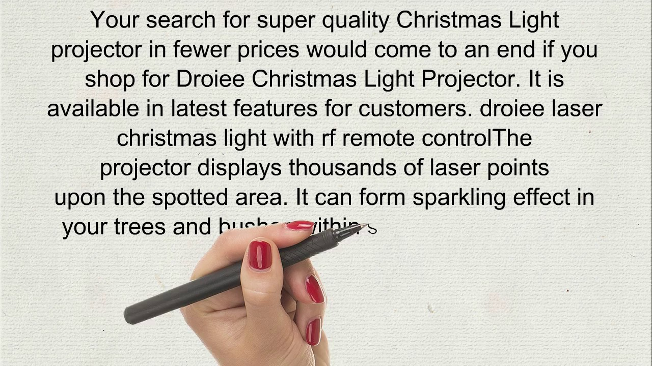 Christmas Light Projectors - YouTube