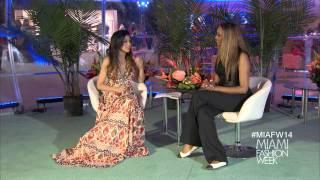 Cynthia Bailey speaks to Miami Fashion Week Reporter 2014