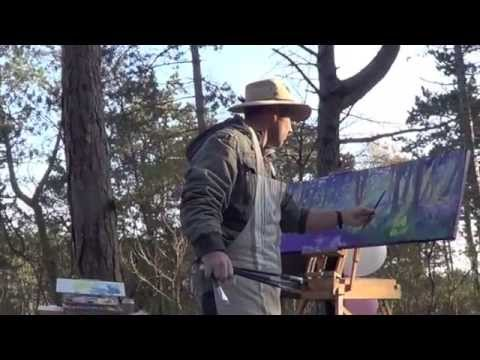 Leon Holmes - Plein Air Painter. Begen Forest. Glory International Art Festival 2013