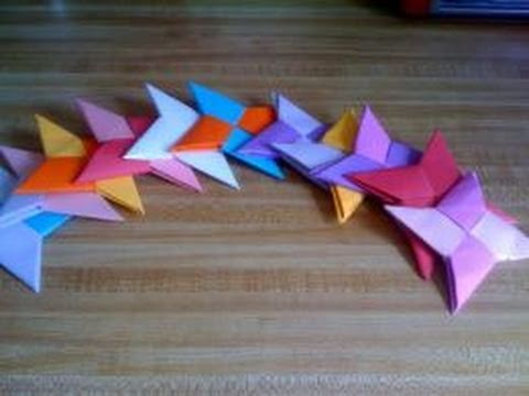 Paper Crafts How To Make A Shuriken Ninja Throwing Star Part 1 2