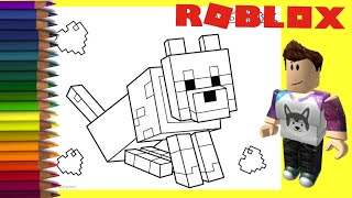 Coloring Roblox Animals | Coloring for Kids Kindergarten | Coloring Roblox Coloring Book Pages