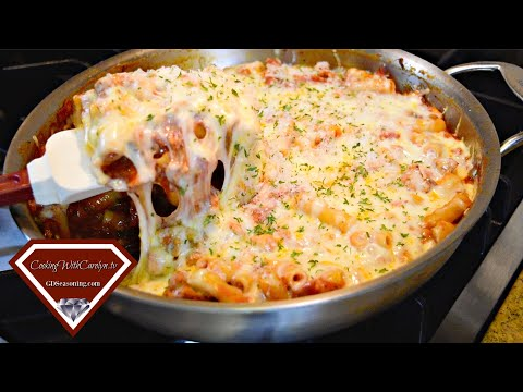 Pepperoni And Sausage Baked Ziti |Cooking With Carolyn