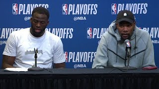 Draymond Kevin Durant Postgame Interview Warriors vs Spurs Game 4 2018 NBA Playoffs