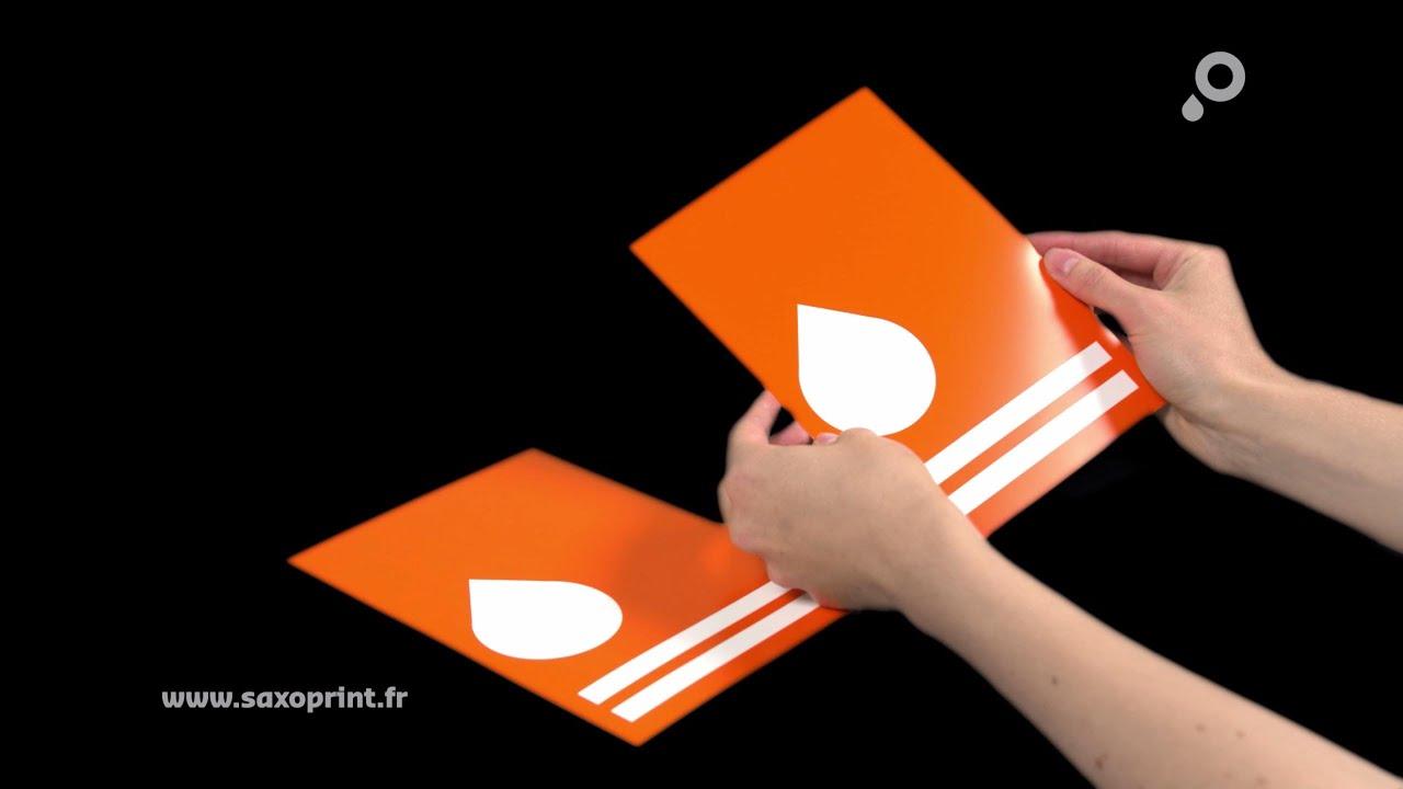 Avantages du papier couché chez SAXOPRINT - YouTube on